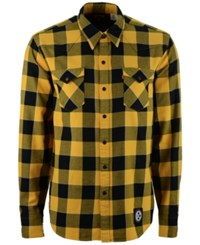 Levi's Men's Pittsburgh Steelers Plaid Barstow Western Long Sleeve Shirt Black