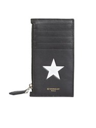 Givenchy Zip Card Wallet Black White