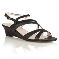 Lotus Hallmark Hazeline Wedge Sandals Black
