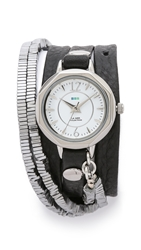 La Mer Highline Chrome Stones Watch Black