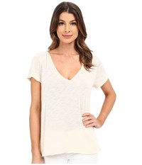 Project Social T Favorite V Slit Tee Shell Women's T Shirt Beige