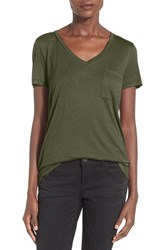 Junior Women's Soprano Oversize V Neck Pocket Tee 2 For 38