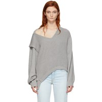 Alexanderwang.T Grey Utility V Neck Sweater