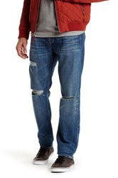 7 For All Mankind Standard Straight Leg Jean Blue