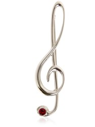 Dolce And Gabbana Treble Clef Pin With Crystal Detail