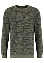 Tom Tailor Denim Crewneck Sweatshirt Woodland Green Oliv