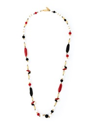 Balenciaga Vintage Beaded Sautoir Necklace Multicolour