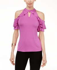 Thalia Sodi Ruffled Off The Shoulder Top Only At Macy's Juicy Grape