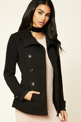 Forever 21 Funnel Neck Belted Jacket