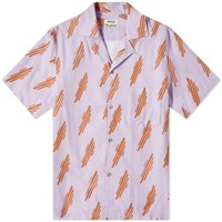 Acne Studios Simon Diagonal Vacation Shirt Purple