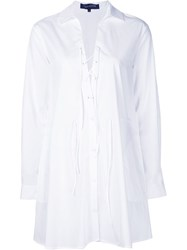 Thakoon Layered Shirt Dress White
