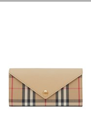 Burberry Vintage Check And Leather Continental Wallet 60