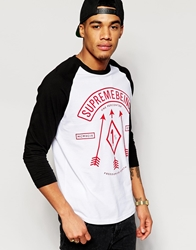 Supreme Being Supremebeing Raglan T Shirt Black