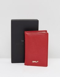 Paul Costelloe Leather Folding Card Holder In Red Red