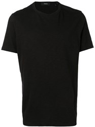Theory Short Sleeve Fitted T Shirt Black