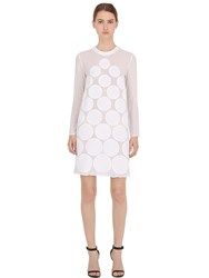 La Perla Sequined Dots Silk Crepe Dress