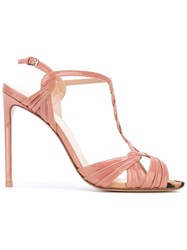 Francesco Russo Ankle Length Sandals Women Leather Patent Leather 36 Beige