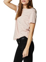 Selected Femme My Perfect Stripe T Shirt Sepia Rose