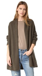 Vince Texture Shawl Cardigan Moss