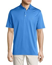 Callaway Printed Short Sleeve Polo Shirt Magnetic Blue