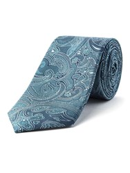 Racing Green Citizen Paisley Silk Tie Blue