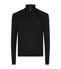 Polo Ralph Lauren Half Zip Cable Knit Jumper Male Black