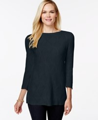 Charter Club Fan Stitch Tunic Sweater Only At Macy's