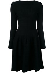 Alaia Long Sleeve Skater Dress Black