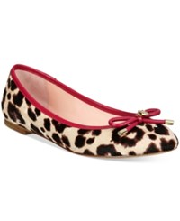 Kate Spade New York Willa Ballet Flats Women's Shoes Blush Brown Leopard
