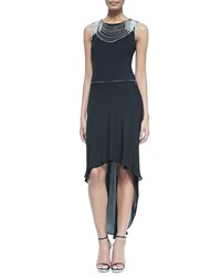 Gryphon New York Embellished Chiffon Dress With Zip Off Skirt Women's