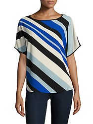 Vince Camuto Striped Boatneck Top Core Blue