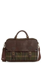 Barbour Men's Tartan Briefcase Brown Classic