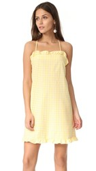 Amanda Uprichard Crete Dress Yellow Gingham