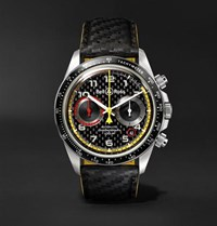 Bell And Ross Br V2 94 R.S.18 Renault Limited Edition Chronograph 41Mm Stainless Steel Leather Watch Black