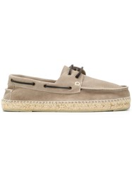Manebi Lace Up Espadrilles Nude And Neutrals