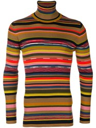 Missoni Slim Fit Striped Sweater Nude And Neutrals