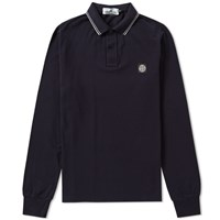 Stone Island Long Sleeve Slim Fit Polo Blue