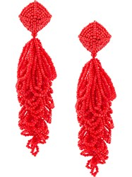 Sachin Babi And Beaded Chandelier Earrings Red
