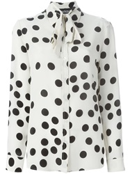 Moschino Polka Dot Blouse Nude And Neutrals