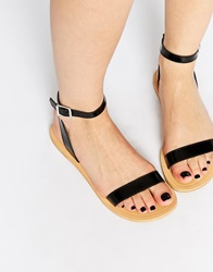 Asos Fancy Me Leather Sandals Black