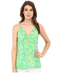 Lilly Pulitzer Finn Top Fresh Citrus Green Parrot Women's Sleeveless