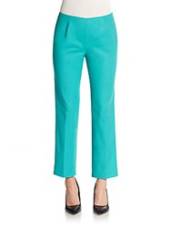 Lafayette 148 New York Cropped Bleeker Pants Aquarium