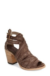 Women's Freebird By Steven 'Claw' Strappy Sandal Brown Distressed Leather