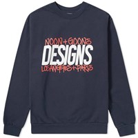 Noon Goons La Paris Crew Sweat Blue