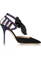 J.Crew Collection Suede And Satin Pumps Black