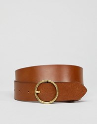 Levi's Circle Buckle Leather Belt Brown