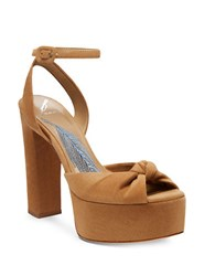 Brian Atwood Gabby Ankle Strap Sandals Camel