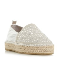 Head Over Heels Giina Embellished Espadrille Shoes Silver