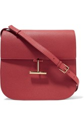 Tom Ford T Clasp Textured Leather Shoulder Bag Brick