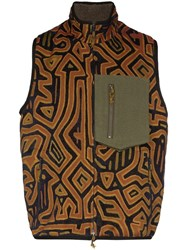 Song For The Mute Camper Printed Gilet Multicolour